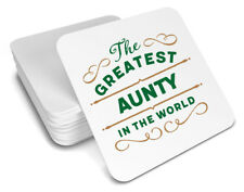 Aunty Gift Birthday Coaster For Her Christmas Xmas Personalised Present Idea
