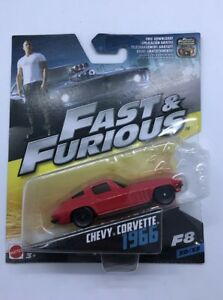 Fast & Furious 1966 Chevy Corvette Die Cast Car Mattel F8 30/32