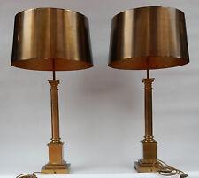 1950/70  Maison Charles Paire de Lampes Laiton Colonnes Coryntiennes  Signées