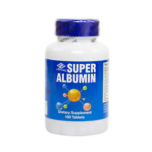 NuHealth Super Albumin 100 Tablets, FRESH, Made In USA, Global Shipping, SAFE!