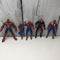"2000's 90s Marvel Legends Spider-Man/Avengers 5"" Action Figure Lot OF (5) Loose"