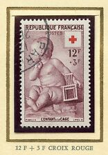 STAMP / TIMBRE FRANCE OBLITERE CROIX ROUGE N° 1048 COTE 10 €