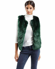 Topshop Faux Fur No Pattern Casual Coats & Jackets for Women