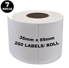 7 Rolls Dymo Seiko Compatible 99012 Labels 36mm x 89mm 260 Per Roll Labelwriter