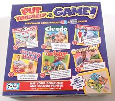 Put Yourself in the Game Personalise Your Favourite Board Games Unused