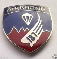*** 187th AIRBORNE REGIMENT ***  Military Veteran US ARMY Hat Pin P12283 EE