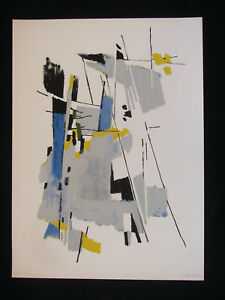 Theo Eble, 1899 - 1974 Basel. Colour Lithograph 1957 Signed .gruppe 33 Basel