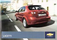 Prospekt / Brochure Chevrolet Lacetti 08/2007