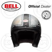 CASCO JET MOTO BELL CUSTOM 500 DLX SE SPECIAL EDITION RSD '74 BLACK/SILVER OPACO