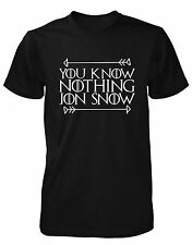 You Know Nothing Jon Snow Inspired Game Of Thrones Unisex T-Shirt