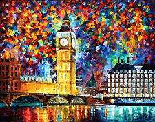 """Big Ben, London —  Oil Painting On Canvas By Leonid Afremov. Size: 40""""x30"""""""