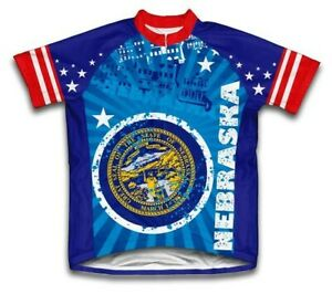 Scudo Pro Nebraska Short Sleeve Cycling Jersey, Size XL - NWT