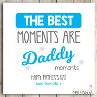 Personalised Fathers Day Card for Dad Daddy Cute Father's Day Card Best Moments