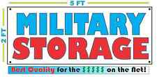 Full Color MILITARY STORAGE Banner Sign All Weather NEW XL Larger Size