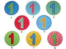 Zahl Button, Aufnäher, Applikation, 1-9
