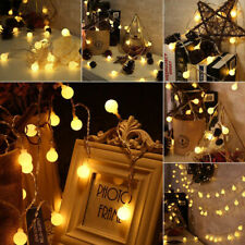 50 LED Ball Fairy String Lights Christmas Tree Wedding Home Garden Decoration 6M