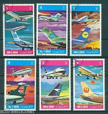 Umm al Qiwain 603A - 608 A , o , Motiv Flugzeuge