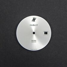 HUBLOT MDM GENEVE 27 mm Rhodium Sunburst Watch Dial With Date