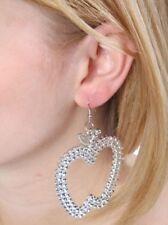 Mode-Ohrschmuck aus Metall-Legierung mit Strass-Perlen