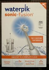 Waterpik Sonic-Fusion Rechargeable Flossing Toothbrush WHITE SEALED NIB