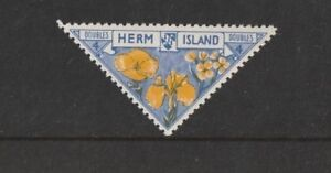 HERM ISLAND 1954 4 DOUBLES FLOWERS COMMEMORATIVE STAMP MNH