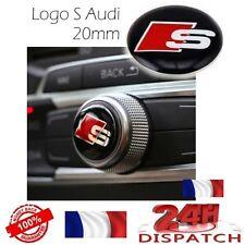 Logo bouton S 20mm pour Audi SLINE S LINE S1 S3 S4 S5 S6 S8