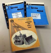 Set International 100 Series C 100c Crawler Loader Operators Service Manual