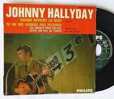 EP  JOHNNY HALLYDAY - Quand Reveient La Nuit     Philips