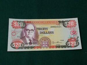 JAMAICA 20 DOLLARS 1995 UNC