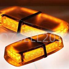 24 LED Car Emergency Beacon Light Bar Strobe Warning Lamp Amber 12V