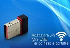 Adattatore Antenna Nano Mini USB Wireless WiFi Chiavetta WI-FI penna 150Mbps hsb
