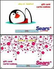 2x SEARS CHRISTMAS RED FLOWERS PENGUIN IN WATER POND COLLECTIBLE GIFT CARD LOT