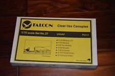 New FALCON Clear-Vax Canopies 1/72 Scale Set No 27 USAAF Part 3