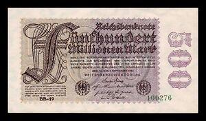 B-D-M Alemania Germany 500000000 Mark 1923 Pick 110a SC UNC