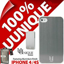 Uunique Aluminium Case Hard Shell Cover Black Metal for Apple iPhone 4 / 4S