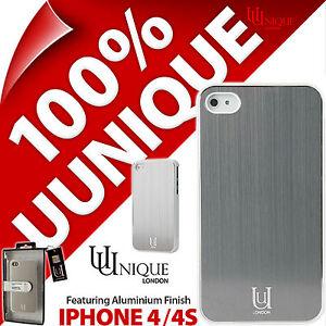 Uunique Aluminium Case Hard Shell Cover White Metal for Apple iPhone 4 / 4S