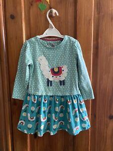 Frugi Organic Cotton Llama Long Sleeve Dress 18-24 Months 83-90cm Playwear