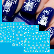 12 Patterns/Sheet Christmas Nail Art Water Stickers Snowflakes Transfer Decals