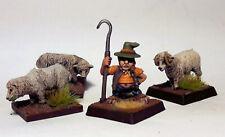 Borderlands Shepherd 3 Sheep Wargame LMF17 UNPAINTED 28mm Scale Model Kit Figure