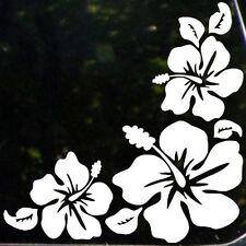 White 3 flowers Prints Sticker Vinyl Decal Car Window Wall Bumper van Decor Gift