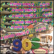 90'S GOOD VIBES Unisex Party fabric festival wristbands Festie bands Nineties