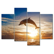 Canvas Print Painting Picture Photo Jumping Dolphin Home Decor Wall Art Framed