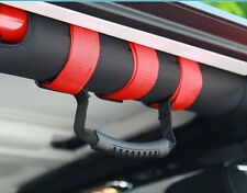 AU stock Fit Jeep Wrangler YJ TJ JK 87-18 Roll Bar Grab Handle Handles Red PAIR