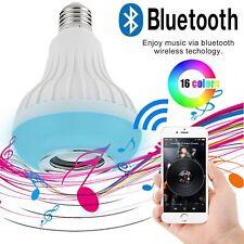 LAMPADINA LAMPADA LED RGB CASSA SPEAKER MUSICA BLUETOOTH BULBO E27 TELECOMANDO