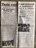 N28 La Une Du Journal Paris Soir 2 Juin 1940