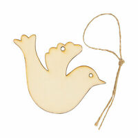 Do It Yourself Unfinished Wood Christmas Dove Ornaments - Craft Kits - 24 Pieces