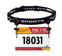 X31 Sports® Race Number Belt, Reflective Triathlon Bib Holder with 6 Fuel Loops