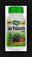 Nature's Way Saw Palmetto Berries, 585 mg, 100 Capsules