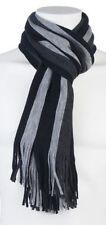 Écharpes noir avec des motifs Rayures pour homme
