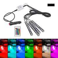 4x 9 LED SMD Fußraumbeleuchtung Innenraumbeleuchtung Streifen RGB 7 Farbe VW